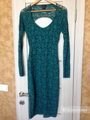 Платье изумрудное Moda International