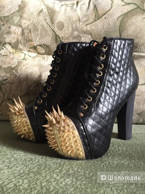 Невероятные ботинки Jeffrey Campbell Lita Crown оригинал на российский 37-38 б/у