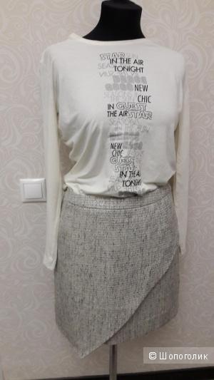 H&M:юбка-букле с запАхом и ассиметричным краем