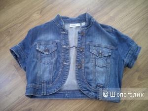 Классная джинсовая куртка жакет Mango размер М, синий цвет
