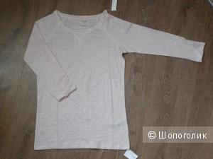 Majestic футболка с рукавами 3/4 лен и шелк