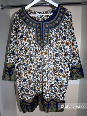 Новая Туника - Платье в огурцах. Индия 44-46 (48) р.