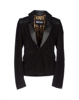 Замшевый жакет пиджак Just Cavalli черный