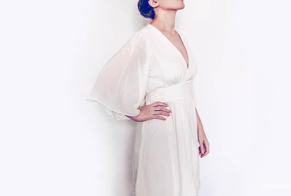 """""""Платье нимфы"""", шелковое белое 42, Ana Pires, новое"""