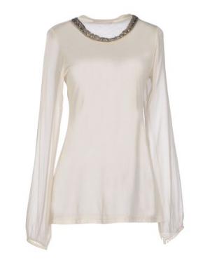 Блуза stefanel шелковая с бусинами с yoox