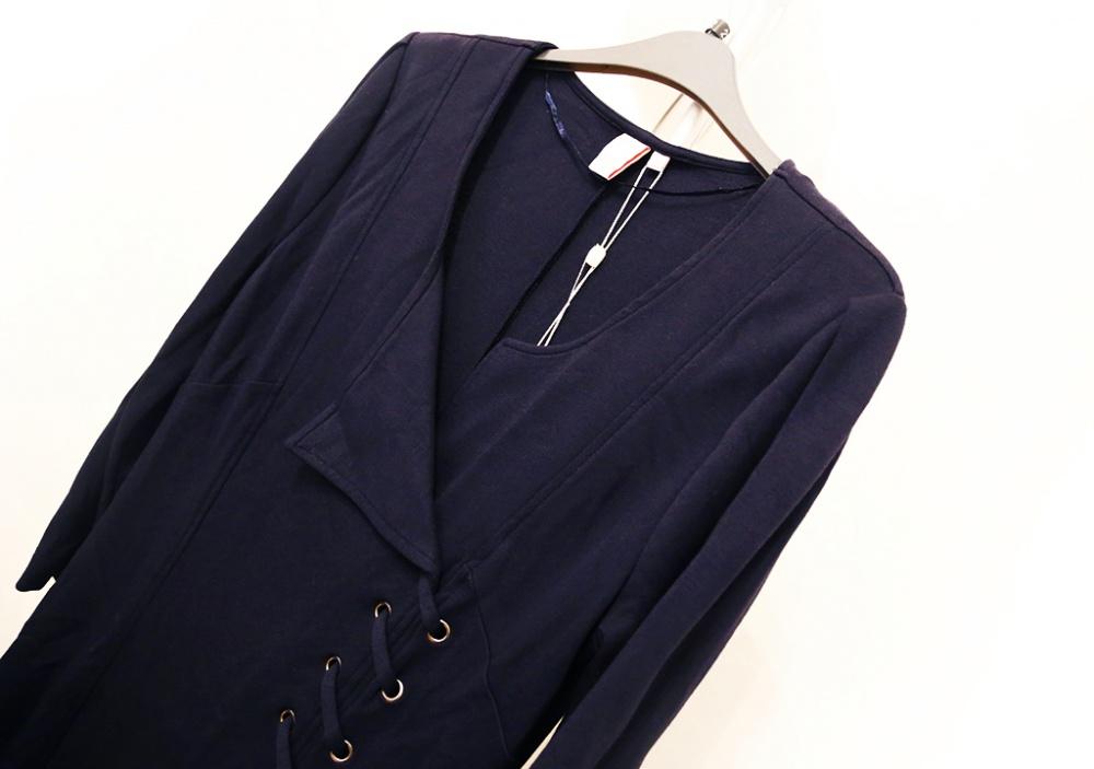 Синее платье с декоративной шнуровкой, М, новое