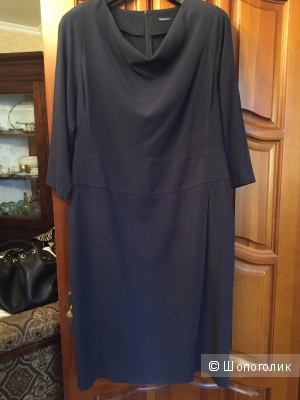 Темно-синее платье миди Glance Plus size