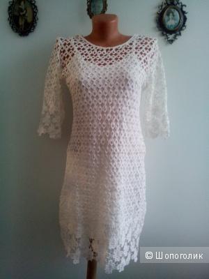 """Платье кружево белое Jus D""""ORANGE Франция размер T2 fr 38 eu"""