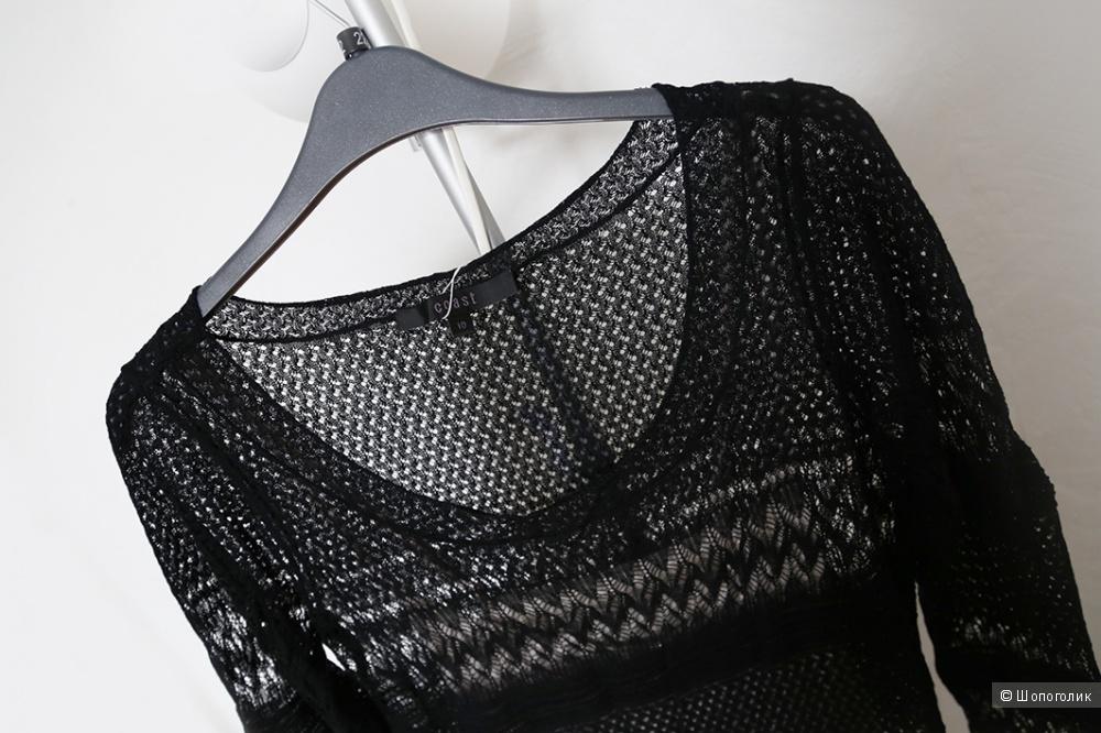 Ажурное черное платье с внутренней комбинацией, Coast