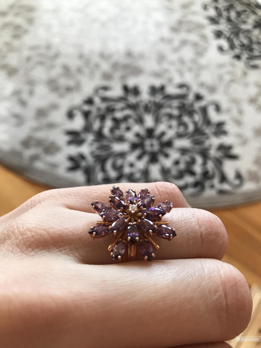 Золотое кольцо 585 пробы 17,5 размер