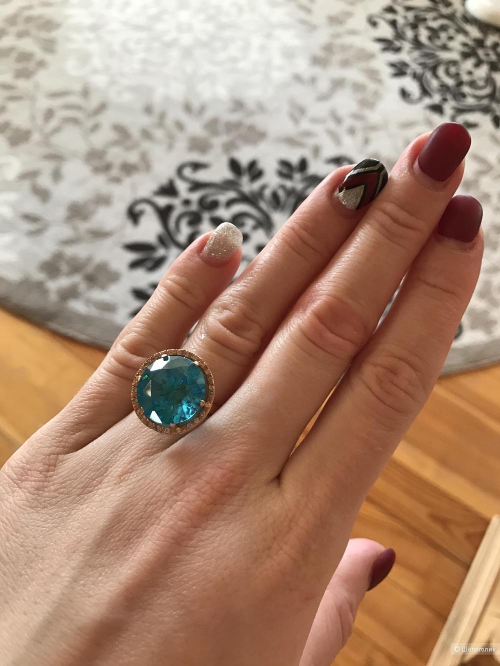 Кольцо золотое 585 пробы, размер 17,5