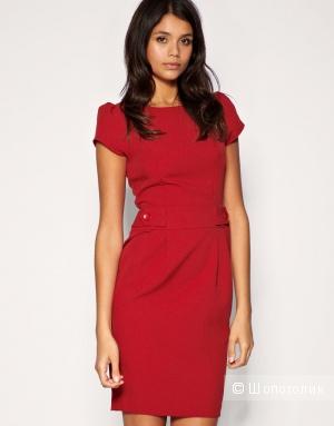 Новое красное платье-футляр, 42