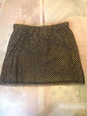 Черная юбка Zara с пайетками