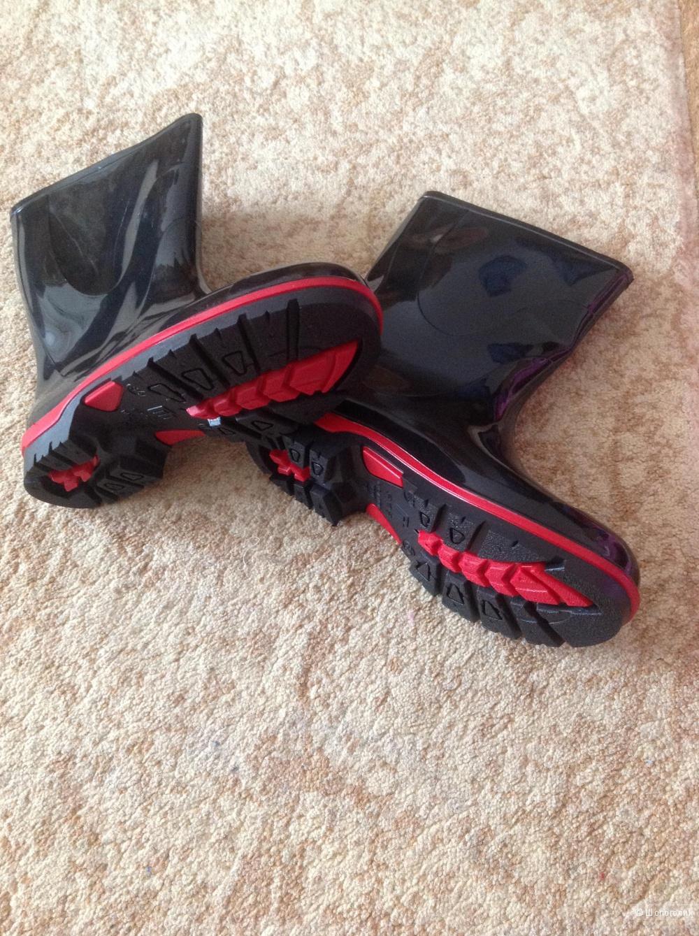 Новые резиновые сапоги, 34 размер
