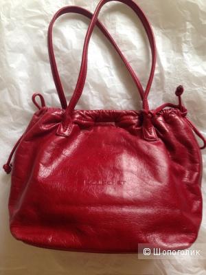 Небольшая красная сумочка POURCHET, Франция
