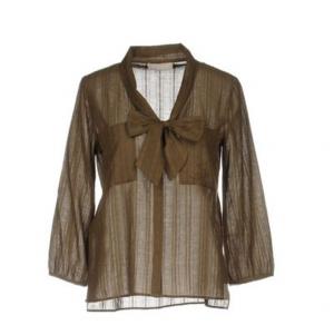 Легкая блузка STEFANEL, L (Международный Размер) Зеленый-милитари