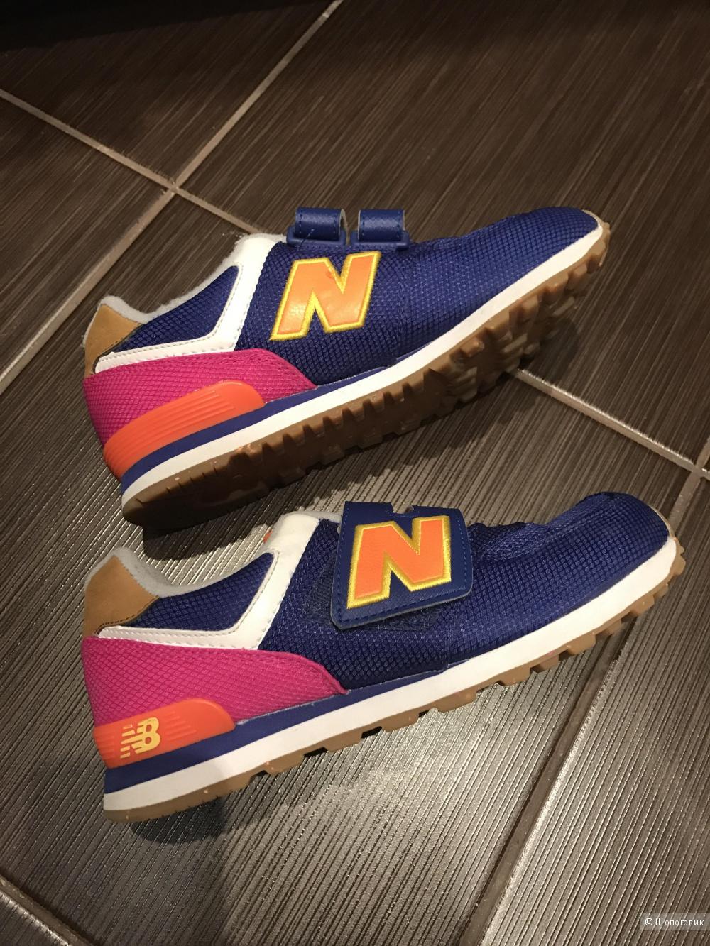 Детские кроссовки New Balance 574 размер 34.5 EU б/ у пара месяцев в спортзале Оригинал
