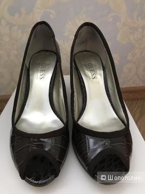 Туфли коричневые б/у GUESS, 36 размер