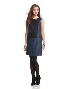 Платье JB by Julie Brown Clemmie Colorblock Faux Leather
