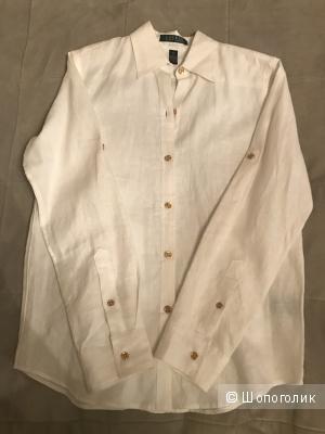 Рубашка белая Ralph Lauren, 100% лен, размер XS, новая