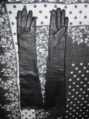 Длинные перчатки СHANEL  р.7,5
