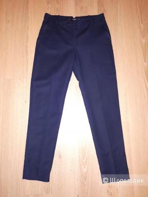 Классические брюки Mango  темно-синего цвета 36 европейского размера (наш 42-44)