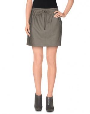 Кожаная юбка c yoox