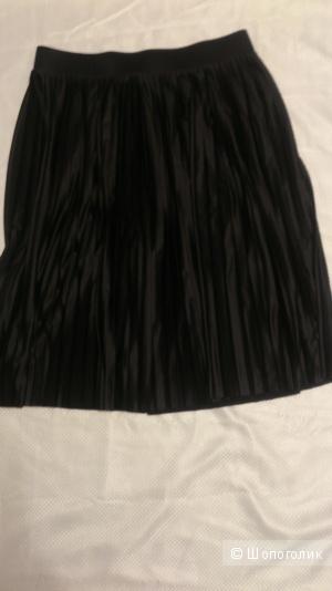 Юбка, плиссе, черная 48-50