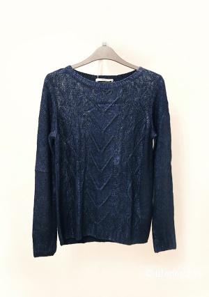 Новый свитер темно-синий металлик Oasis, 42-44