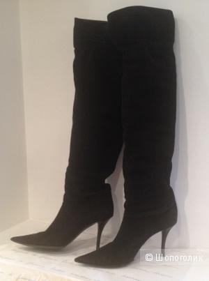 Демисезонные женские сапоги от итальянского бренда Les Tropeziennes, б\у, размер 37