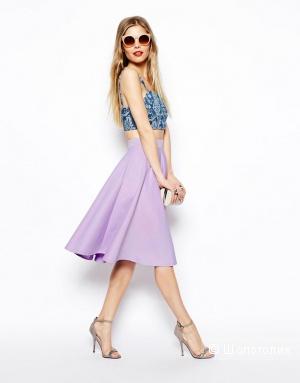 Новая юбка-солнце сиреневая, миди, UK8