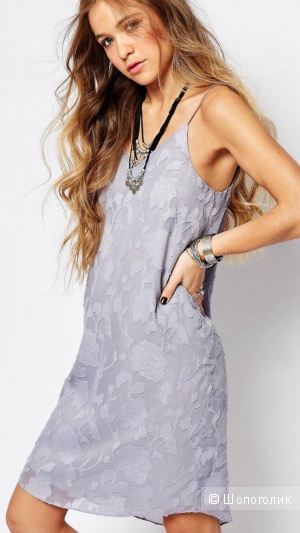 Лавандовое платье-комбинация Honey Punch S/XS