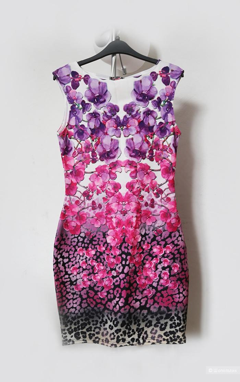 Новое платье Lipsy с цветочным рисунком омбре, М
