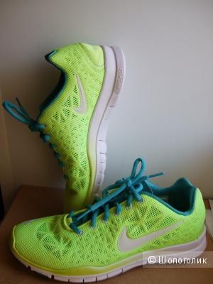 Nike free 5.0 лайм+бирюза. Новые кроссовки р. 25,5см на 38,5-39
