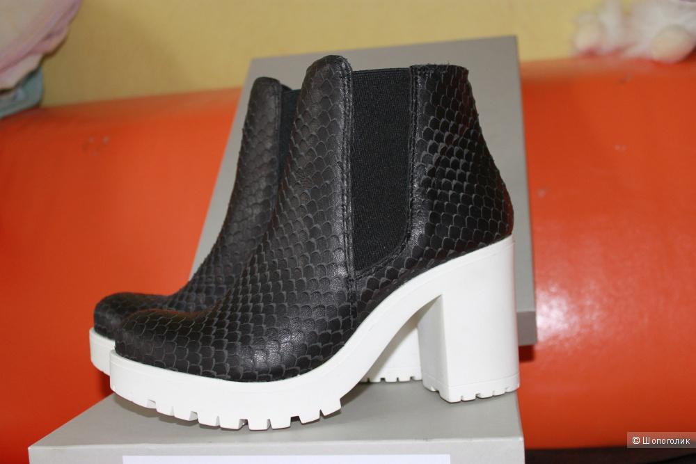 Новые шикарные кожаные ботиночки NOEE размер 37 IT