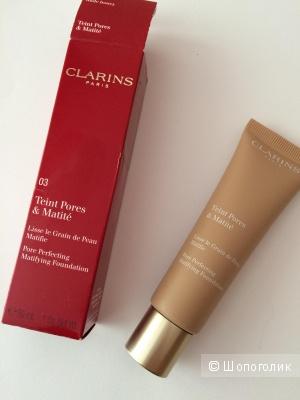 Clarins Teint Pores & Matité Тональный крем с матирующим и выравнивающим действием. Оттенок 03 nude honey