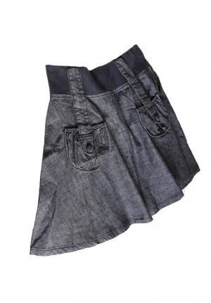 Новая юбка джинсовая с карманами S-M