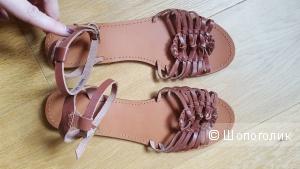 Кожаные плетеные сандалии ASOS, размер EU 42
