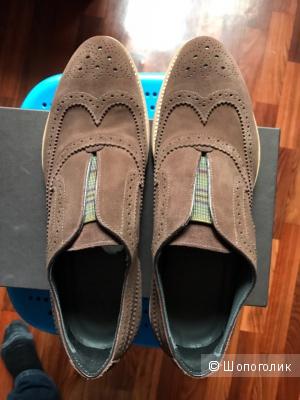 Новые итальянские ботинки(броги) Doucal''s,размер 42,5-43