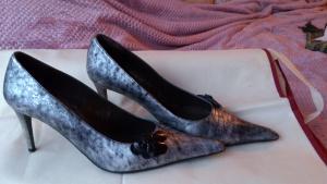 Туфли MTU серебристо-черные, размер 38, Испания.