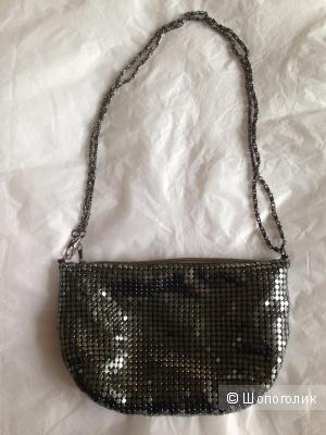 Вечерняя сумочка клатч из кольчуги Accessorize на длинной цепочке