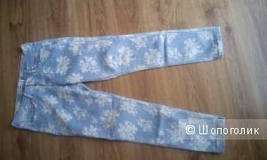 Голубые джинсы с принтом Janina Jeans Германия размер 46