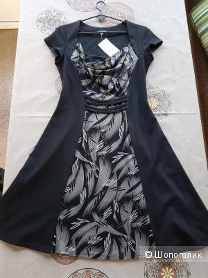 Черное платье р.48