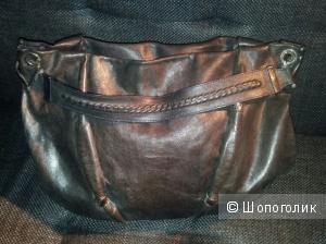 Сумка из натуральной кожи Costume National. 1-ая линия. Made in Italy