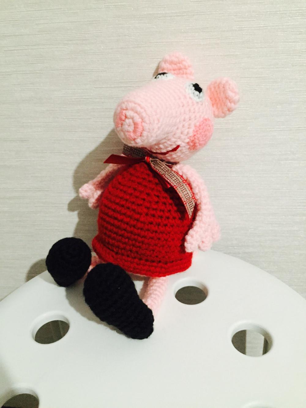 вязаная игрушка свинка пеппа в магазине другой магазин на шопоголик