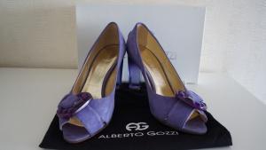Замшевые туфли Alberto Gozzi, размер 39, фиолетовые