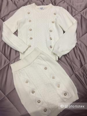 Вязаный костюм Chanel (реплика) 44 размер