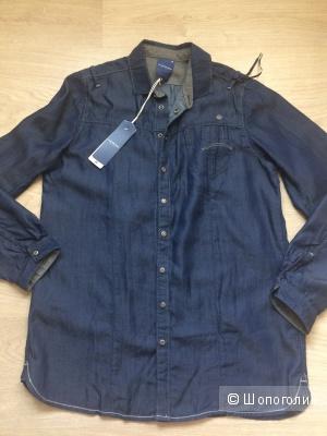 Джинсовая рубашка G-star raw, 46, 48 размер из тенсела