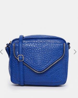 Новая синяя сумка на длинном ремешке New Look