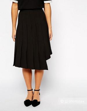 Юбка The Laden Showroom X Even Vintage Asymmetric Pleat Midi Skirt (M)